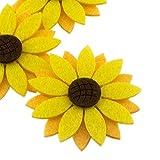 summer-ray 20 5,1 cm Dreischichtig Filz Sonnenblume Laser Ausschnitt Verzierung -