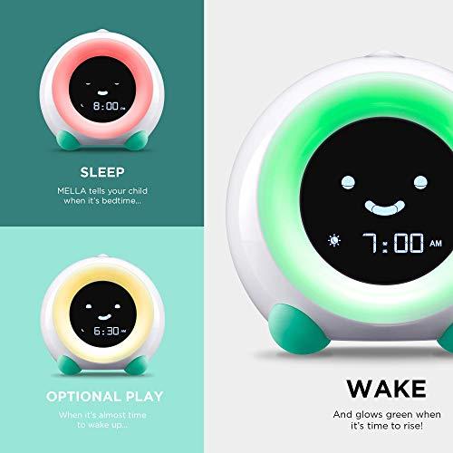 LittleHippo Mella Ready to Rise Children's Sleep Trainer, Alarm Clock, Night Light and Sleep Sounds Machine (Tropical Teal)