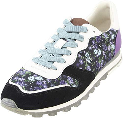 COACH C118 Women's Sneakers Size US 8 B Black Multi/Chalk