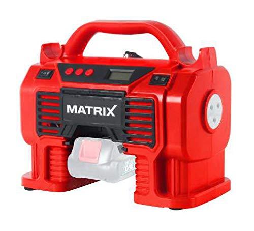 MATRIX AC 20V Akku-Kompressor | X-One Serie | Grundgerät | 11 bar Betriebsdruck | Reifenfüller | Ballnadel