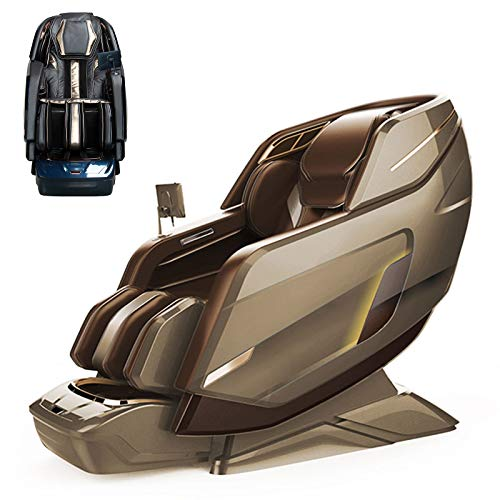 Lzour Full Body Massage Chair Recliner, 3D Bluetooth Massage Chair Electric Lift Chair Recliner Chair/Sofa with Yoga Stretch, Rocking Function, Bluetooth,Brass