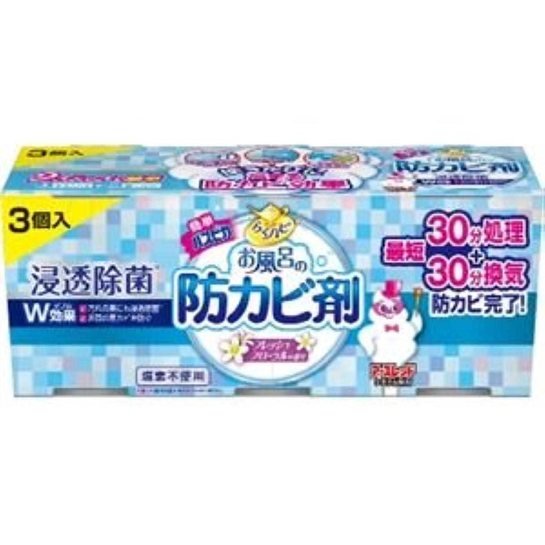 誰の会議好意(まとめ)アース製薬 らくハピお風呂の防カビ剤フローラル3個パック 【×3点セット】