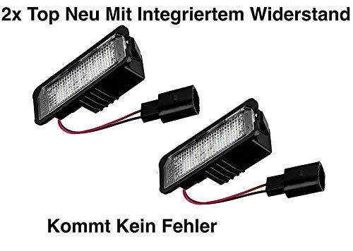 2x TOP LED SMD Kennzeichenbeleuchtung Nummernschildbeleuchtung (vwpx18)
