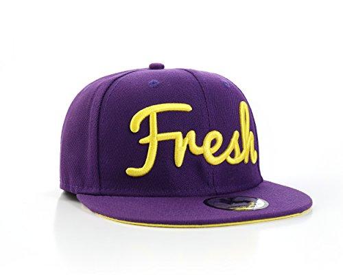 "Underground Kulture ""Fresh Violet Casquette de Baseball Réglable (Purple Funky Fresh Snapback)"