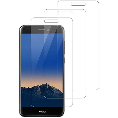 NASFUEY [3 Stück Panzerglas Bildschirmschutzfolie für Huawei P8 lite 2017, 9H Festigkeit, Anti-Kratzen, 0.33mm Ultra-klar, Anti-Fingerabdruck, Ultrawiderstandsfähig, Anti-Bläschenm, Schutzfolie für P8 lite 2017