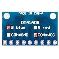 4個のLEDモジュール 青/赤のコモンカソード/コモンアノードブレッドボードキット MCU ARM 3Dプリンター3-24V用 3Dプリンター部品(DM41B08_B_VCC Blue common sun without needle)