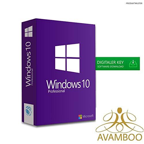 Windows 10 Pro Professional Key Lizenz 64 Bit Upgrade Kein USB/DVD