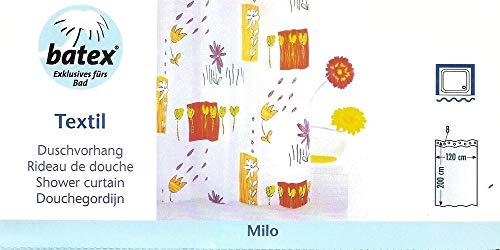 Batex Duschvorhang Milo 78329 BxH 120x200 cm Badewannenvorhang Wannenvorhang Textilvorhang Dusche Vorhang für die Dusche