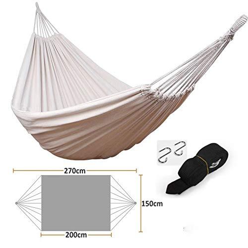 Amaca doppia da spiaggia in tela per esterno con balcone e altalena pigra sedia sospesa 200 * 150 cm