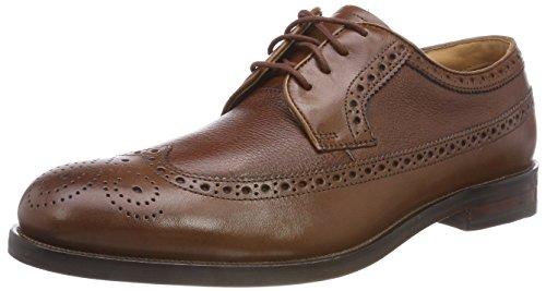 Clarks Coling Limit, Zapatos de Cordones Brogue para Hombre, Marrón (British Tan), 41 EU