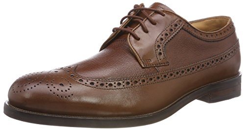 Clarks Coling Limit, Zapatos de Cordones Brogue para Hombre, Marrón (British Tan), 41 EU