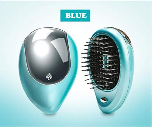 LJK Électrique Ionique Brosse À Cheveux en Acier Aiguille Dents Massage Cuir Chevelu Peigne Beauté Brosse Soins des Cheveux Traitement Styling Outils, Bleu