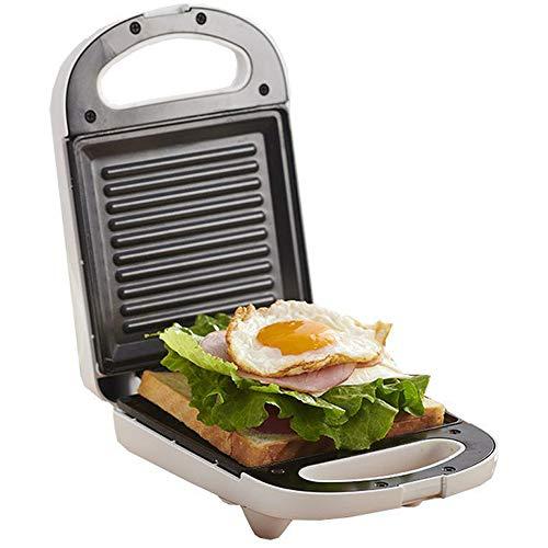 BAS Grill Sandwichera Plancha,650W,Parrillas Eléctricas,Superficie Grill, Asa Tacto Frío, Placas Cuadradas Antiadherentes...