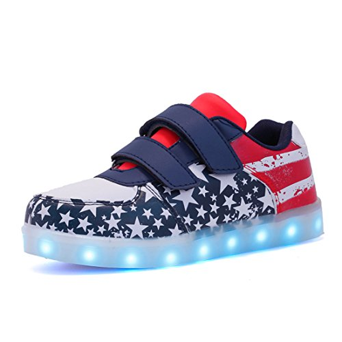Voovix Kids Low-Top Led Light Up Shoes Control
