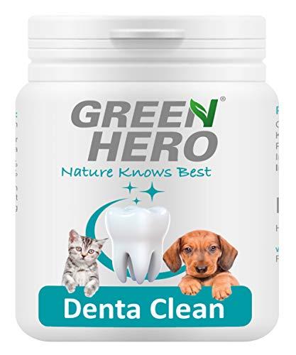 Green Hero DentaClean zur effektiven Zahnpflege und Zahnreinigung für Hund und Katze Hilft bei Zahnstein Plaque Zahnbelag sowie Mundgeruch 175g