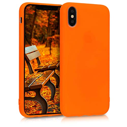 kwmobile Hülle kompatibel mit Apple iPhone XS - Handyhülle - Handy Hülle in Neon Orange