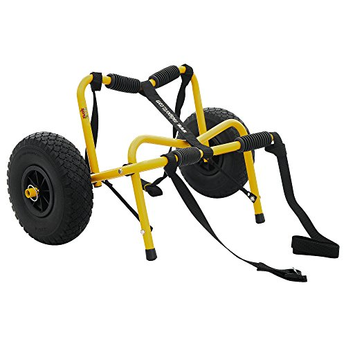 1235 RAD Sportz Kayak Trolley Pro Premium Kayak Cart Airless Tires 150 LB Cap Yellow