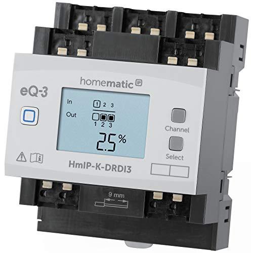 Homematic IP ELV Komplettbausatz 3-Fach-Funk-Dimmaktor für Hutschienenmontage HmIP-K-DRDI3