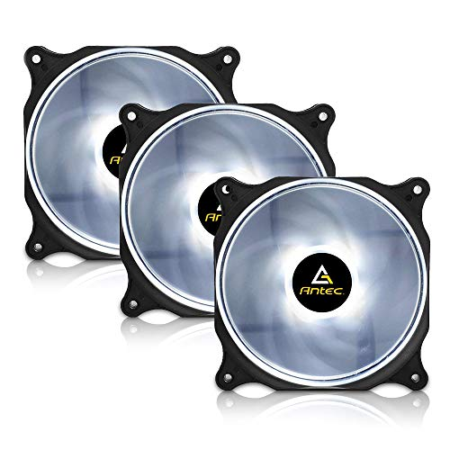 Antec 120mm RGB LED Case Fan, White LED Case Fan, High Performance PC Fan, 4-pin Molex Connector, F12 Series 3 Packs Mississippi