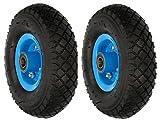 KOTARBAU® Juego de 2 ruedas para carro de transporte, 260 x 85 mm, 3.00-4, reforzadas, 4PR, rueda completa con eje