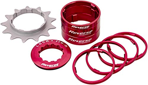 Reverse Single Speed Umbau Kit 13 Zähne rot