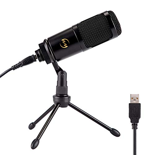 USB Microphone ZINGYOU PC Condenser Mic for Mac or Windows Laptop and Computer ZY-905 Desktop Microphone for Gaming Recording Live Streaming YouTube Videos (Black)