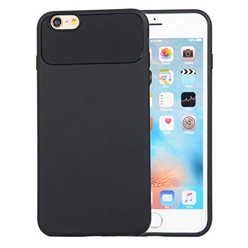 Zouzt iPhone 6 Plus, iPhone 6s Plus Rugged Armor Case,Soft Plastic Slim Full Protective Anti-Scratch Resistant Cover Case Compatible with iPhone 6 Plus, iPhone 6s Plus - Black