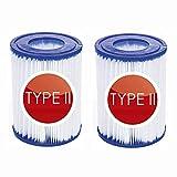 NJYBF - Cartucho de filtro para piscina, tamaño 2, para Bestway, filtro de piscina hinchable, filtro de limpieza de piscina, accesorios, cartuchos de filtro, filtro de cartuchos, papel.