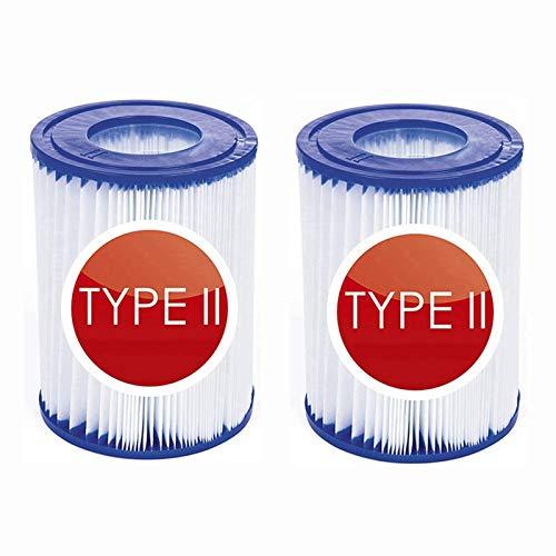 NJYBF Pool-Filterkartusche Größe 2 für Bestway, aufblasbarer Pool-Filter, Poolreinigungsfilter Zubehör, Filterkartuschen Kartuschenfilter Papier. (2 PCS)