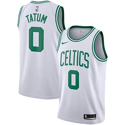 Lalagofe Jason Tatum Boston Celtics #0 Bianco Basket Jersey Maglia Canotta, Swingman Ricamata, Stile di Abbigliamento Sportivo (S, Bianco)