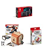 Nintendo Switch Konsole - Grau (neue Edition) inkl. Labo Robo-Set und Design Paket