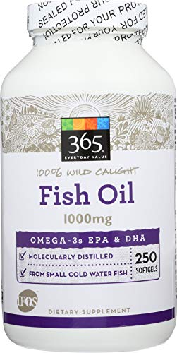 365 Everyday Value, Fish Oil, 250 ct