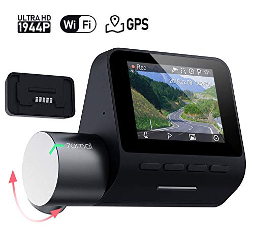 Price comparison product image 70mai Dash Cam Pro,  1944P FHD Rotatable WDR 140° Wide Angle Dashboard Camera Recorder with GPS Module / Voice Control / G-Sensor Parking Mode / Auto Emergency Recording / Night Vision / DVR Driving Recording