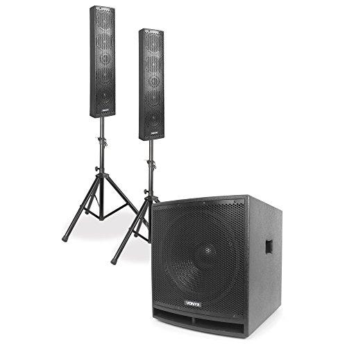 "Vonyx VX880BT 2.1 Aktives Lautsprecher-Set 1000 W 15\"", 2 x 8, USB/SD/MP3/BT"