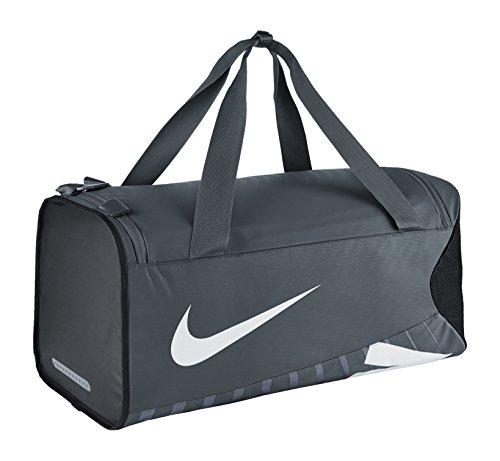 Nike Sporttasche Herren Alpha Adapt Crossbody Duffel, BA5182-064, grau (Flint Grey/Black/White), 61 x 28 x 28 cm, M-52 Liter