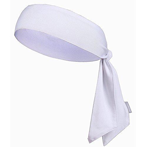 JJunLiM Sport-Stirnband für Frauen und Männer - Non-Slip-Stirnband Sweatband Head Krawatten Ideal zum Laufen, Ausarbeiten, Tennis, Karate, Volleyball & Performance Stretch & Moisture Wicking (White)