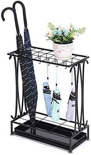 Parapluhouder met opvangbak afneembare paraplu van kunststof plank met 6 gaatjes staat voor paraplu's (grootte: 50x24x69cm) 50x24x69cm