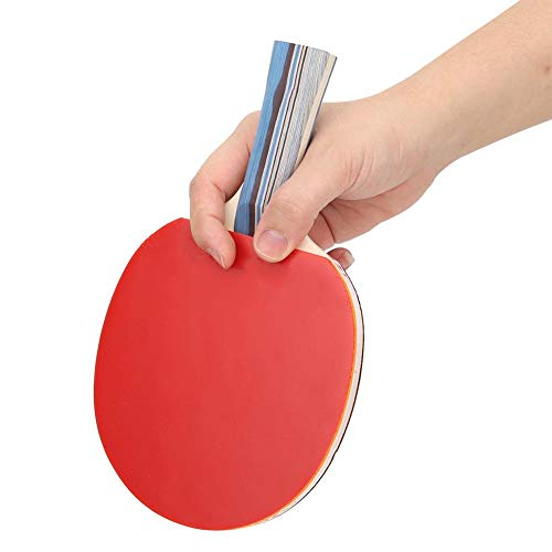 Great Price! Leftwei ●Gifts for Lovers Table Tennis Paddle, Long Handle/Short Handle Two Side Rubber Tubes Training Pong Paddle, for Practice and Casual Play Adult and Children(Long Handle)