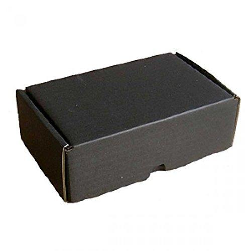 5x Kleine Post-Versand-Schachtel | Schwarz | 18x12x7cm | Päckchen Karton Versandkartons Faltschachteln Faltkarton Kraftpapier Geschenkbox Geschenkschachtel Falten (5 Stück)