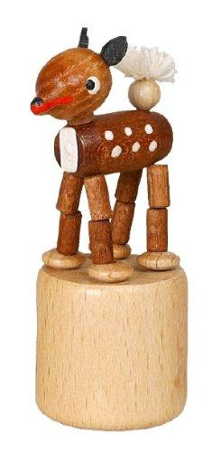 Blikeldier hert wiebelfiguur zeep speelgoed hoogte 7 cm Ertsgebergte NIEUW