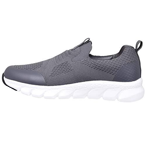Zapatillas Deportivas Mujer Zapatos Deporte Gimnasio Cómodos Zapatillas de Running Ligero Fitness Zapatos de Trabajo Zapatillas Casual Sneakers Gris Oscuro D 39EU
