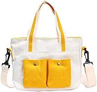 Heshaodensdjb Handbags For Women, Ladies Shoulder Bag Canvas Messenger Bag Ladies Leisure Shopping Beach Tote Bag (Color :...