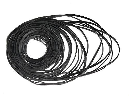 New 1mm Mixed Square Cassette Tape 40-135mm Length for Phono Drive Belt Repair Rebuild A Variety of ...