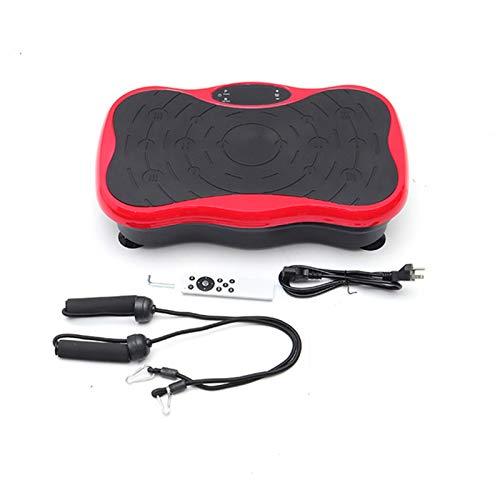 H-XH Plataforma Vibratoria 4d 200KG / 441LBS, Plataforma De Vibración- Control Remoto con Bandas De Resistencia para Bajar De Peso Y Tonificar El Cuerpo