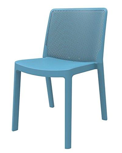 resol set de 4 sillas de diseño Fresh para interior, exterior, jardín - color azul retro: Amazon.es: Hogar