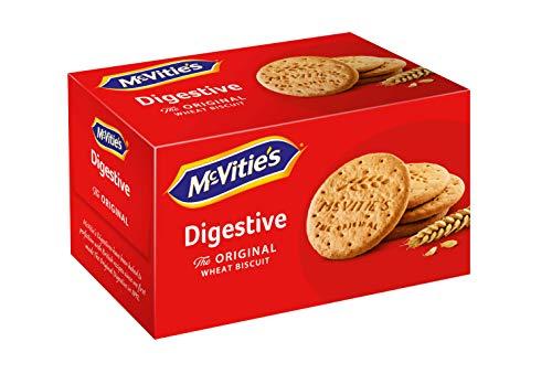 McVitie´s Digestive 1x250g - Knusprige Kekse mit Vollkorn - Leckeres, original britisches Gebäck zum Kaffe, Tee oder als Snack