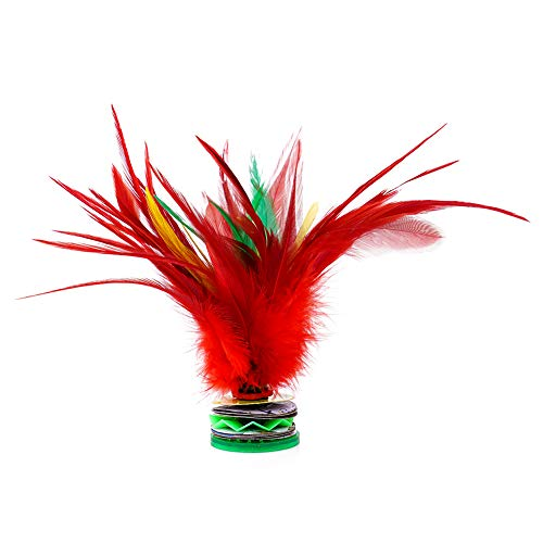 EMUST Feather Kick Shuttlecock Colorful Feathers - Durable Chinese Jianzi Play with Friends 1 PCS