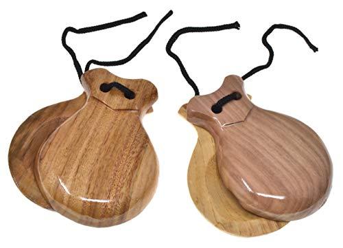 Madera Castañuelas para adultos 2 pares de castañuelas Castañuelas rojas Castañuelas españolas Color de lunares Colores tradicionales españoles Regalo de recuerdo de España Percusión de mano