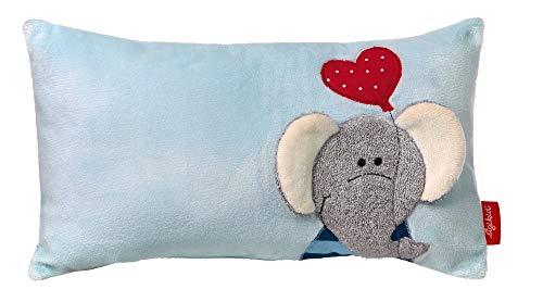 sigikid, Mädchen und Jungen, Schmuse-Kissen, Elefant Lolo Lombardo, Blau, 40994