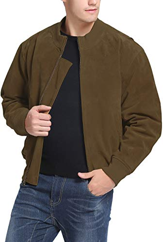 Landing Leathers Men's WWII Suede Leather Tanker Jacket Tobacco XX-Large Tall